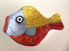 "10"" VIETRI Desuir Int. Fish Pesce Bowl Wall Plate"