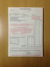 Used Car/ Vehicle Sales Invoice Trade Sale Pad  X 5 PADS