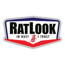 RATLOOK in RUST I TRUST car sticker, rat hoodride vw 100mm oilcan