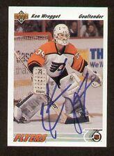 Ken Wregget signed autograph auto 1991-92 Upper Deck Hockey Card