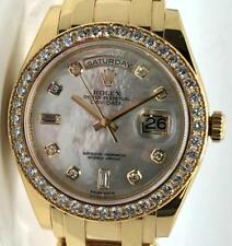 Rolex 18948 Tridor Day Date Masterpiece Pearlmaster w/ MOP Diamond Dial & Papers