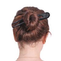 """MARY CRAFTS SIMPLE BUFFALO HORN HAIR FORK HAIRFORK HAIR PIN HAIRPIN 6.6"""" A894"""