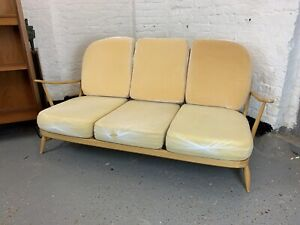 Original Ercol  model 203 3 seater Sofa CUSHIONS ONLY , PLZ READ vintage, Daybed