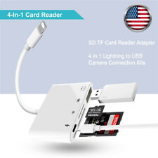 Camera Reader Lightning to SD TF Card USB PD Adapter For iPhone 6 7 8 11 XS iPad