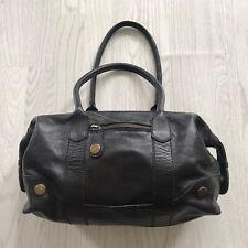 GAP Black 100% Leather Baguette Bag Handbag