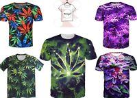 New Weed Marijuana Cannabis Grass Smoke Funny T-shirt Men Women 3D Print S-7XL