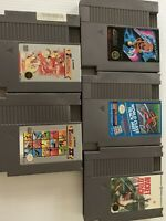 Nintendo Nes Game Lot Of 5