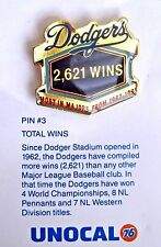 1992 UNOCAL 76 #3 PIN Los Angeles Dodgers Most Wins 1962-1991 MLB MIP