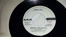 GREGORY JAMES EDITION Sunday Lady DAKAR 4533 RARE KILLER FUNK PROMO 45