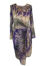 TWIGGY For M&S Women's Snakeskin Print Drape Asymmetric Hem Dress UK 8