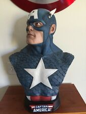 "Sideshow CAPTAIN AMERICA LIFE SIZE Bust 24"" Statue Marvel Avengers 0006/1000"