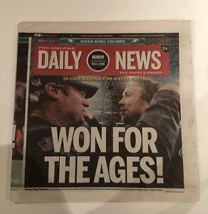 PHILADELPHIA EAGLES SUPER BOWL LII 52 DAILY NEWS PHILADELPHIA NEWSPAPER 2/5/18