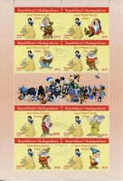 Madagascar 2019 CTO Snow White & Seven Dwarves 8v M/S Disney Cartoons Stamps
