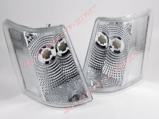 Pair Euro Clear Corner Signal Lights for 1993-1998 Jeep Grand Cherokee