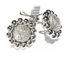 orecchini DAMIANI in oro bianco 18 kt diamanti ct 1,02 diametro cm 1,95