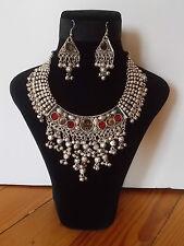 Parure, Collier Tribal et Boucles d'oreille ,  Artisanat Inde,  Kutch Gujarat 27