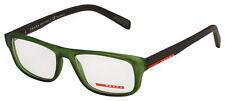 Prada Sport Eyeglasses PS 06GV UFK1O1 54 Transparent Green Frame [54-17-145]