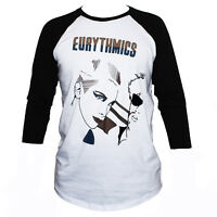 Eurythmics T SHIRT 80's Retro Style Graphic 3/4 Sleeve Unisex Band Tee S M L XL