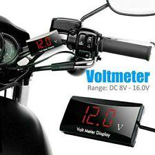 LED Digital Display Voltmeter Car Motorcycle Voltage Volt Gauge Panel Meter 12V/