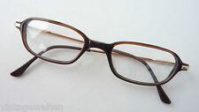 Kunststoff Brille rechteckige Form braun-gold Federbügel Herrengestell Grösse M