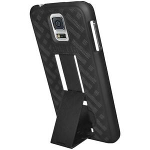 AMZER Snap On Case with Kickstand - Black for Samsung Galaxy S5 Neo SM-G903F