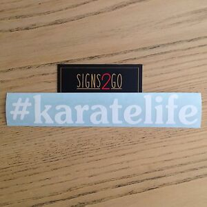KARATE LIFE CAR STICKER For Dojo Van Car Bus iPad MacBook Made In Australia!
