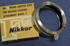 VTG New in Box Gothic F Nikon NIKKOR BR-3 Macro Adapter Closeup Ring PB3 4 5 6