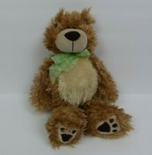 First & Main Brown Teddy Bear Plush Stuffed Animal Toy Ribbon Around Neck
