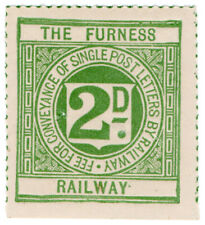 (I.B) The Furness Railway : Letter Stamp 2d