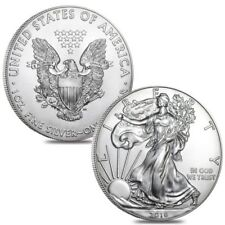 2018 1 OZ. SILVER EAGLE $1 COIN - BRILLIANT UNCIRCULATED FROM MINT ROLL  #1012