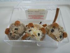 JACKSON CARDINAL FLIES - 3 NATURAL MOUSE - 503-6 - SIZE 6 - BASS HAIR BUGS