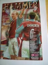 westham united v southampton premier league 25/4/1998