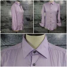 Mexx Women Semi-Slim Fit Polo Shirt Long Sleeve Blouse  Stretch Purple sz XS