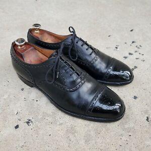 Vintage Church's Diplomat Brogue Oxfords Black Leather sz 9.5 US MENS