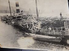 ORIG PHOTOGRAPHIC VINTAGE WW1 LISA  SINKING  SHIPWRECK  110 X 75 mm HMS LUPIN B