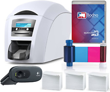Magicard Enduro 3E Dual Sided Id Card Printer Complete Supplies Package With S