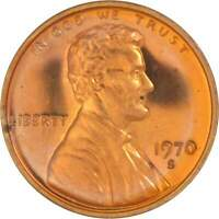 1970-S 1c Lincoln Cent Penny Choice Proof