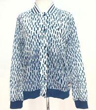 ADIDAS WOMENS track jacket Light BOMBER Blue/White ANIMAL Print AY4006 M $80
