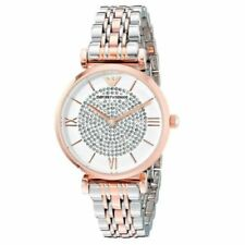 Emporio Armani AR1926 Women's Watch Silver Crystals Dial Silver Rose Gold Band