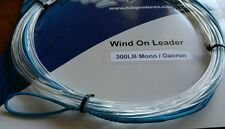 1X 300lbs wind-on leader 23 feet long. hand made by H2Opro
