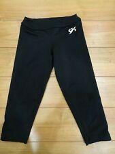 Gk Elite size Axs Girls Capri warm up pants black team gymnastics