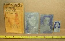 Terry Moore Newspaper Printing Plates 1956 58 60s Actress Movies TV Little Sheba