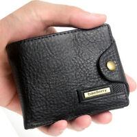 Men's Multifunction Leather Wallet Zipper Coin Purse Credit Card Holder Wallets