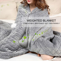 WR_ POLYESTER ADULT WEIGHTED BLANKET QUILT SLEEP HELPER ANXIETY INSOMNIA STRESS