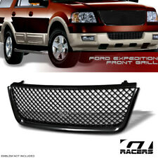 For 2003-2006 Ford Expedition Mesh Front Hood Bumper Grill Grille - Glossy Black