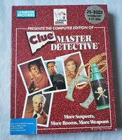 "Clue Master Detective 1989 both 3.5"" and 5.25"" Virgin Interactive MS-DOS PC IBM"