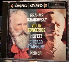 RCA GOLD CD 09026-61495-2: HEIFETZ - Brahms / Tchaikovsky Violin Conc - 1993 USA