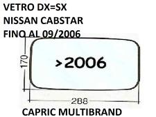 Vetro Sx Cromato per Specchietto Retrovisore Nissan Cabstar fino al 01.09.2006
