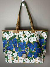 New Dooney Bourke Pansy Floral Leisure Blue/white flowers Shopper Tote Bag