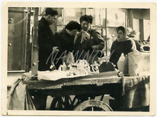 Real Photo - STREET MARKET Scene - possibly BELGIUM - date unknown.